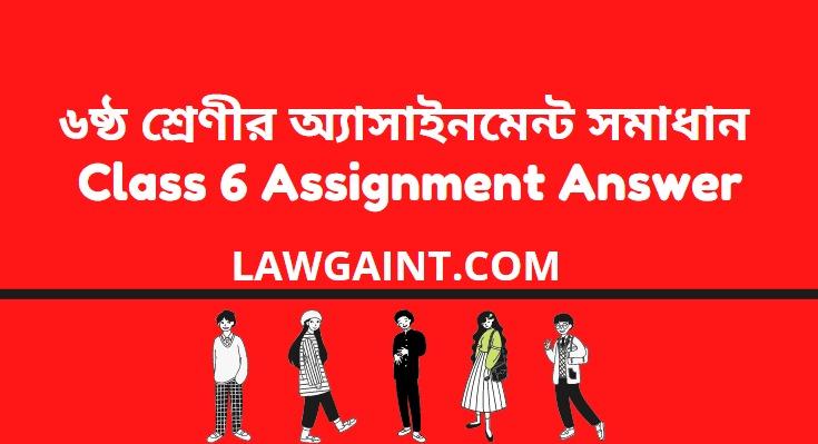 Class 6 Assignment Answer 2021 ৬ষ্ঠ শ্রেণীর অ্যাসাইনমেন্ট সমাধান ২০২১